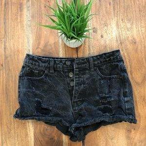 Black jean shorts forever 21 size 24